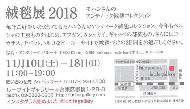 2018.11ルーサイト絨毯展DM裏